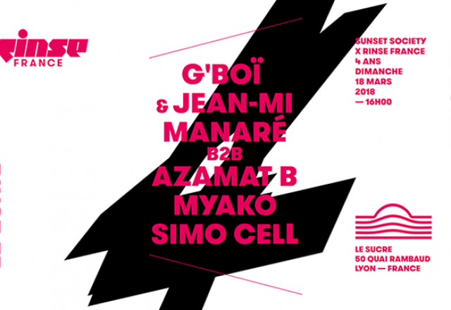 [Dimanche] Sunset Society x Rinse France