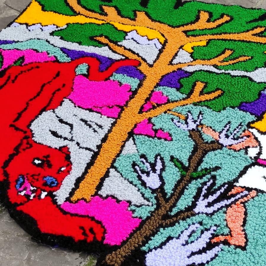 Stuff : Les tapis en punch needle de Stéphane Hoppler