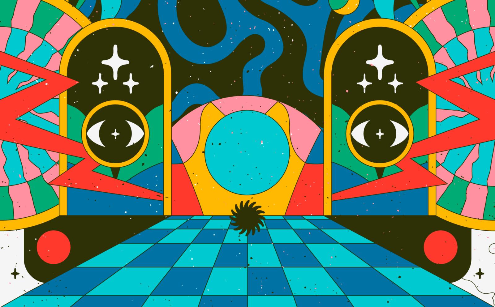 Derrière l'affiche : Les posters de festivals psychés de Blumoo