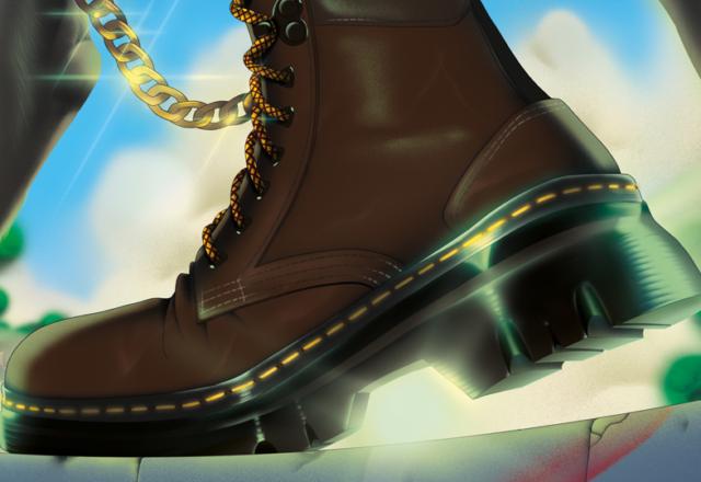 Partenariat : la boots Tarik de Dr. Martens revisitée par trois illustrateur.rices